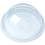 Fabri-Kal Cold Drink Cup No Hole Lid, Dome, 16-24 Oz, Clear
