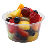 Fabri-Kal Pro-Kal Microwavable Deli Container, 6 Oz, Clear