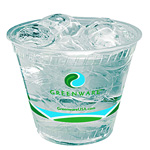 Fabri-Kal Greenware Cold Drink Cup, 9 Oz, Clear