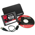 Kingston SSDNow V100 Notebook Bundle - Solid State Drive - 64 GB - SATA-300