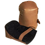 Alta Natural Pro Leather Kneepads w/Buckle Fa