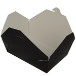 Fold-Pak Biopak #3 Take Out Carton, Black