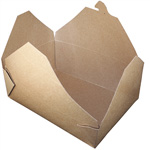 Fold-Pak BioEarth #3 Take Out Carton, Kraft