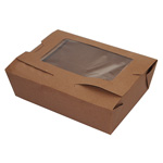 Fold-Pak BioPlus #3 Take Out Carton with Window, Kraft