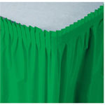Creative Converting Tableskirt Green 14'