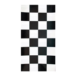 "Creative Converting Tablecover, 40"" x 100', Black Check"