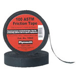 "Plymouth Bishop 3/4"" x 60' 100 Asm Black Frictio Tape Old #8"