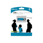 PNY Clip-On Attach? USB Flash Drive - 8 GB