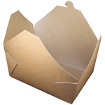 Fold-Pak BioEarth #4 Take Out Carton, Kraft