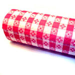 "Paterson Pacific Parch Co Parch 1421050 Roll of Red Checkered Paper Tablecover, 40"" x 300"""