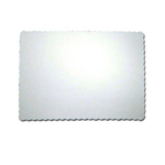 "Pac - Paper Pac Paper 05-0319 10"" x 14"" White Scallop Placemat"