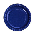 "Creative Converting Disposable 6.75"" Paper Plates, Blue, 12-50 Count Packages"