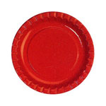 "Creative Converting Disposable 6.75"" Paper Plates, Red, 12 Packs of 50"