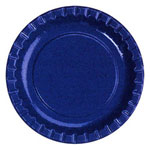 "Creative Converting Disposable 8.75"" Paper Plates, Blue, 12-50 Count Packages"
