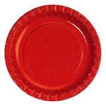 "Creative Converting Disposable 8.75"" Paper Plates, Red, 12-50 Count Packages"
