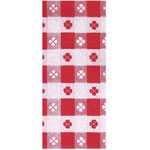 "Creative Converting TPC 108-115 Red Gingham Tablecover, 54"" x 108"""