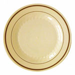 "WNA Comet Masterpiece Disposable 6"" Plastic Plates, Tan, Case of 150"