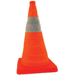"AMSC Pack & Pop 18"" Incidentsafety Cone 4/kit w/Lght"