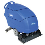 Clarke FOCUS® II Cylindrical 28 Mid-size Autoscrubber, 242 Ah Wet Batteries, Onboard Charger, Brushes and Chemical Mixing System