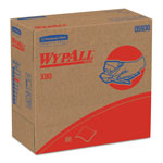 WypAll* X80 Cloths with HYDROKNIT, 9.1 x 16.8, Red, Pop-Up Box, 80/Box, 5 Box/Carton