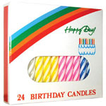 Misc Items Assorted Colors Birthday Candles