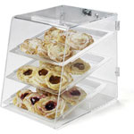 Carlisle SPD300KD Clear Pastry 3-Tray Display Case