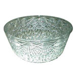 Maryland Plastics 0511 Crystal Cut Salad Plastic Bowls, 6 Quart