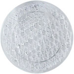 Maryland Plastics 1600 Round Crystal Cut Tray, 16""