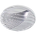 "Carlisle Foodservice Products 6416 16"" Clear Round Festival Tray"