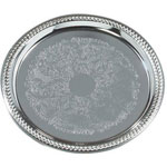 "Carlisle Foodservice Products 608905 13"" Round Chrome Tray"