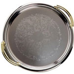 "Carlisle Foodservice Products 608910 14"" Round Celebration Tray with Handles"
