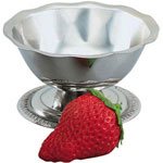 The Vollrath Company 3 1/2 Ounce Paneled Stainless Steel Sherbet Dish