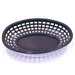 Tablecraft Medium Brown Plastic Oval Basket