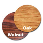 "Oak Street Manufacturing 24"" Walnut/Oak Round Tabletop"