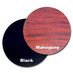 "Oak Street Manufacturing 30"" Mahogany/Black Round Tabletop"