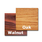 "Oak Street Manufacturing 24"" x 24"" Walnut/Oak Tabletop"