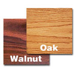 "Oak Street Manufacturing 36"" x 36"" Walnut/Oak Tabletop"