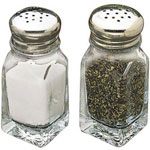 Tablecraft 2 Ounce Square Salt and Pepper Shaker