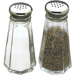 Tablecraft 3 Ounce Paneled Salt and Pepper Dispensers