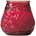 Candle Lamp M0012R6 Red Venetian Candle