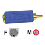 Cables To Go Bi-Directional Video Adapter S-Video / Composite Video (M) 4 Pin Mini-DIN (F) Blue