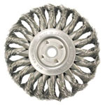 "Anderson Brush 4"" Hurriacne Knot Wheel.014 Ss 5/8""-11"