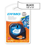 "Dymo LetraTAG - Plastic Tape - Black On Pearl White - Roll (0.47"" x 13.1') - 1 Roll(s)"