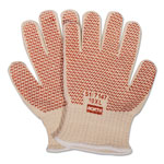 North Safety Products Grip N Hot Mill Nitrile Coated Gloves, Fabric/Cotton, Natural, Mens, XL