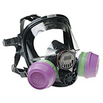 North Safety Products 7600 Series Silicone Full Facepiece Respirators, Small