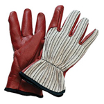 North Safety Products Worknit Cut And Sewn Nitrile Glove with, Black Stripe