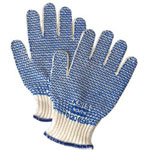 North Safety Products Grip Nr Ambidetrous String Knit Cotton Glove Blu