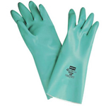 "North Safety Products Green Nitrile Nitri-guard Glove 15mil 13"" Large"