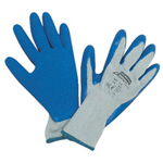North Safety Products Durotask Gray Glove Cot/poly Blue Rubber Palm