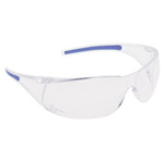 North Safety Products 180 Slimline Safety Glasses Clear Lens Blue Temp
